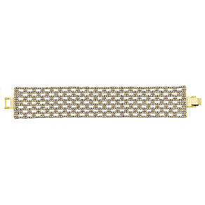 14ct gold-plated crystal wide bracelet - Product number 2358751