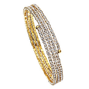 14ct gold-plated crystal twist bangle - Product number 2358794