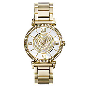 Michael Kors Caitlin ladies' gold-plated bracelet watch - Product number 2360128