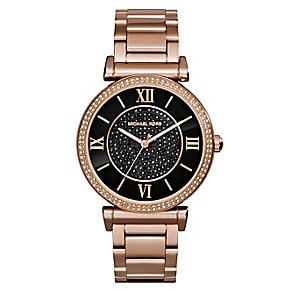 Michael Kors Caitlin ladies' rose gold-plated bracelet watch - Product number 2360152