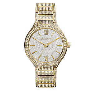 Michael Kors Kerry gold tone pave crystal bracelet watch - Product number 2360233