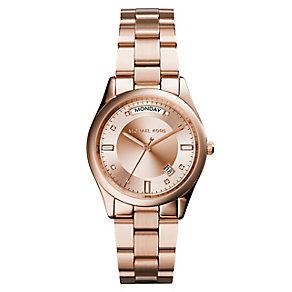 Michael Kors Colette ladies' rose gold tone bracelet watch - Product number 2360268