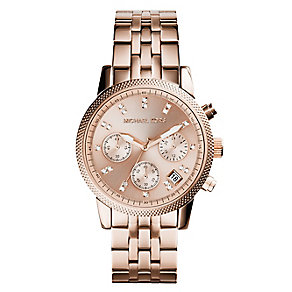 Michael Kors Ritz ladies' PVD rose-plated bracelet watch - Product number 2360284