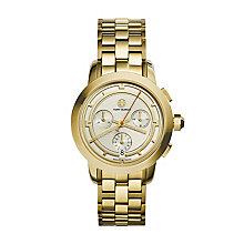 Tory Burch Ladies' Gold Tone Chronograph Bracelet Watch - Product number 2361590
