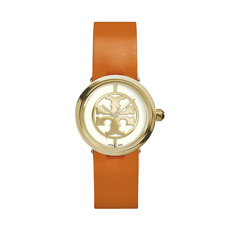 Tory Burch Reva Ladies' Orange Leather Strap Watch - Product number 2361736