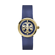 Tory Burch Reva Ladies' Gold Tone Blue Leather Strap Watch - Product number 2361744