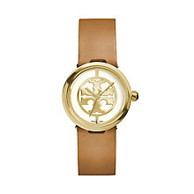 Tory Burch Reva Ladies' Brown Leather Strap Watch - Product number 2361752