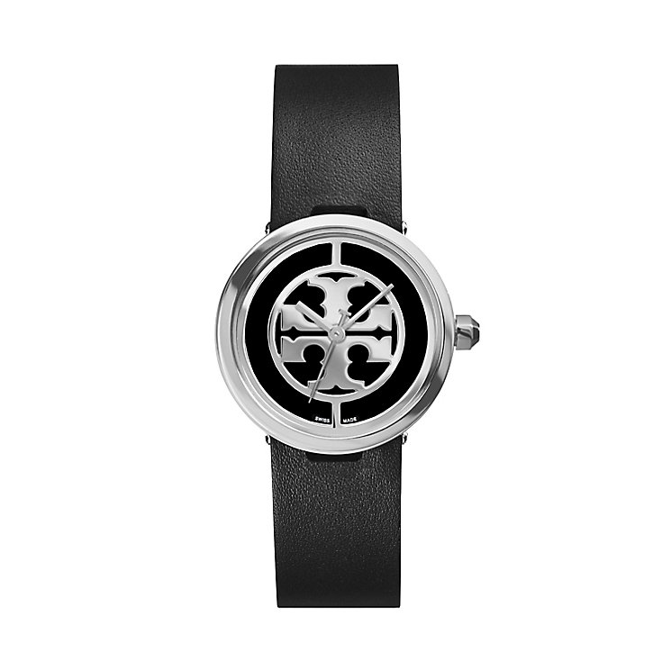 Tory Burch Reva Ladies' Black Leather Strap Watch - Product number 2361779