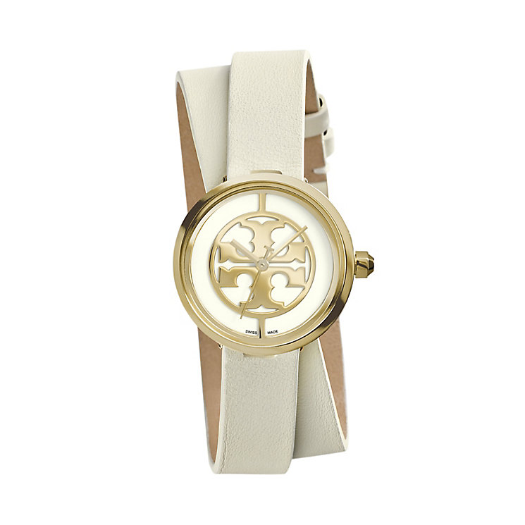 Tory Burch Reva Ladies' Double Wrap Leather Strap Watch - Product number 2361795