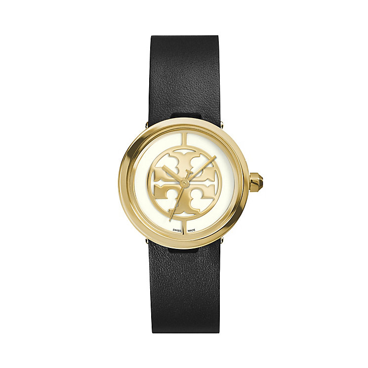 Tory Burch Reva Ladies' Black Leather Strap Watch - Product number 2361809