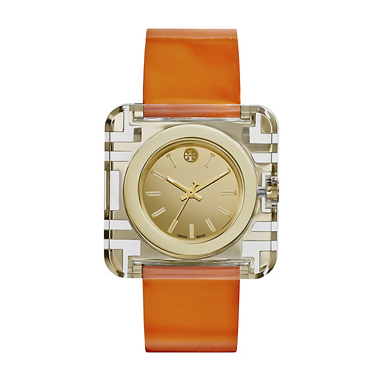 Tory Burch Izzie Ladies' Orange Leather Strap Watch - Product number 2361906