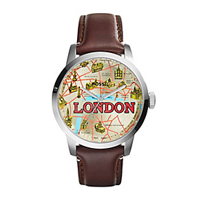 Fossil London men's brown leather strap watch - Product number 2362988