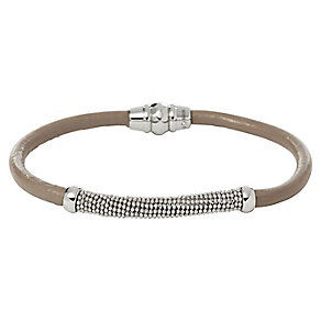 Fossil stainless steel mesh & green leather bracelet - Product number 2363194