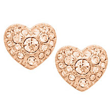 Fossil rose gold-tone glitz heart stud earrings - Product number 2363275