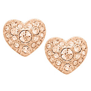 Fossil rose gold-plated glitz heart stud earrings - Product number 2363275