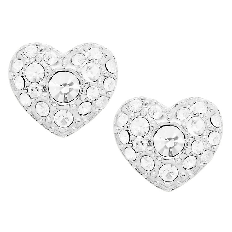 Fossil stainless steel glitz heart stud earrings - Product number 2363283