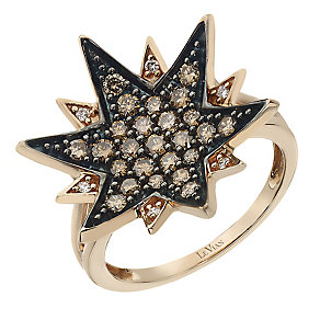 Le Vian 14ct Strawberry Gold Chocolate Diamond star ring - Product number 2365197