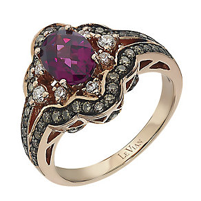 Le Vian 14ct garnet, Vanilla & Chocolate Diamond ring - Product number 2365324