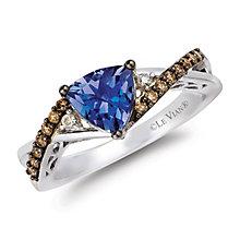 Le Vian 14ct Vanilla Gold tanzanite & diamond ring - Product number 2365588