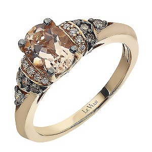 Le Vian 14ct Strawberry Gold Peach Morganite Amp Diamond