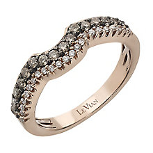 Le Vian 14ct Strawberry Gold white & Chocolate Diamond band - Product number 2366843