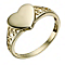 9ct Gold Heart Signet Ring - Product number 2370840