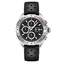 TAG Heuer F1 men's chronograph black rubber strap watch - Product number 2378671