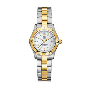 TAG Heuer Aquaracer ladies' two colour bracelet watch - Product number 2384876