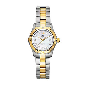 TAG Heuer Aquaracer ladies' two colour bracelet watch - Product number 2391759