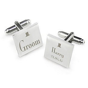 Decorative Wedding Groom Square Cufflinks - Product number 2392038