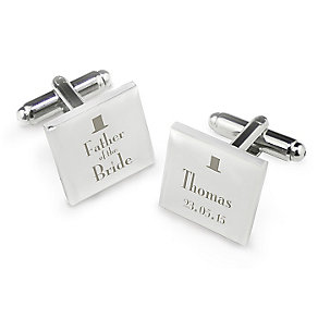 Decorative Wedding Father of the Bride Square Cufflinks - Product number 2392046