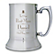 Decorative Wedding Best Man Stainless Steel Tankard - Product number 2392089