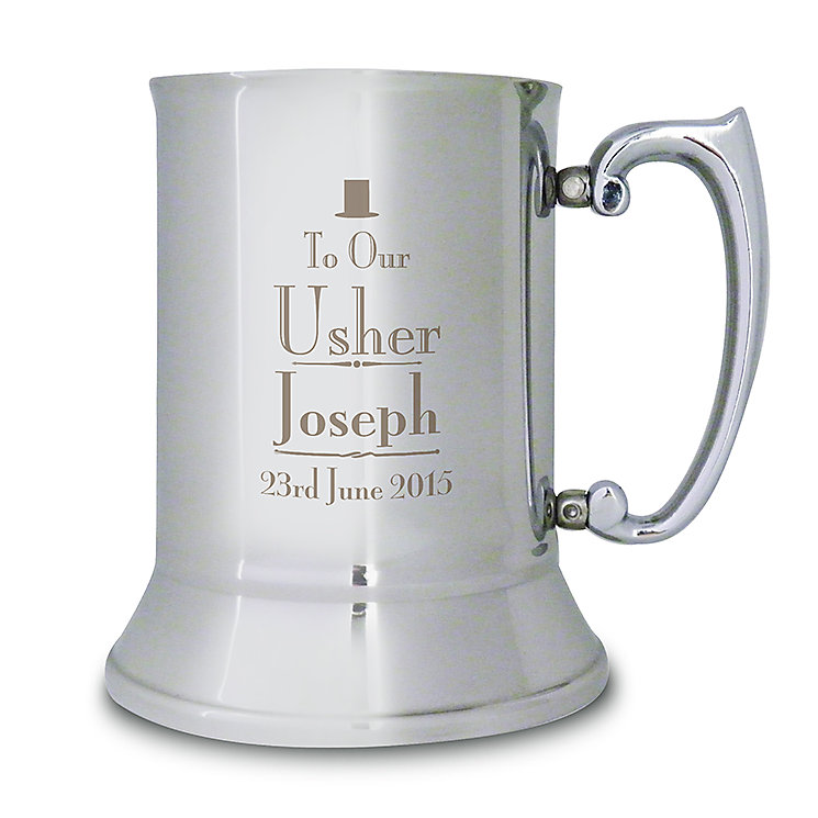 Decorative Wedding Usher Stainless Steel Tankard - Product number 2392127
