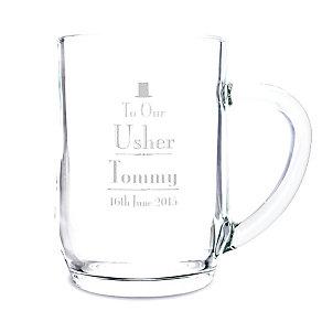 Decorative Wedding Usher Tankard - Product number 2392186