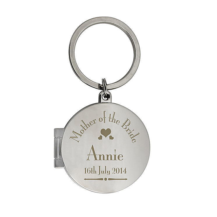 Decorative Wedding Mother of the Bride Round Photo Keyring - Product number 2393662