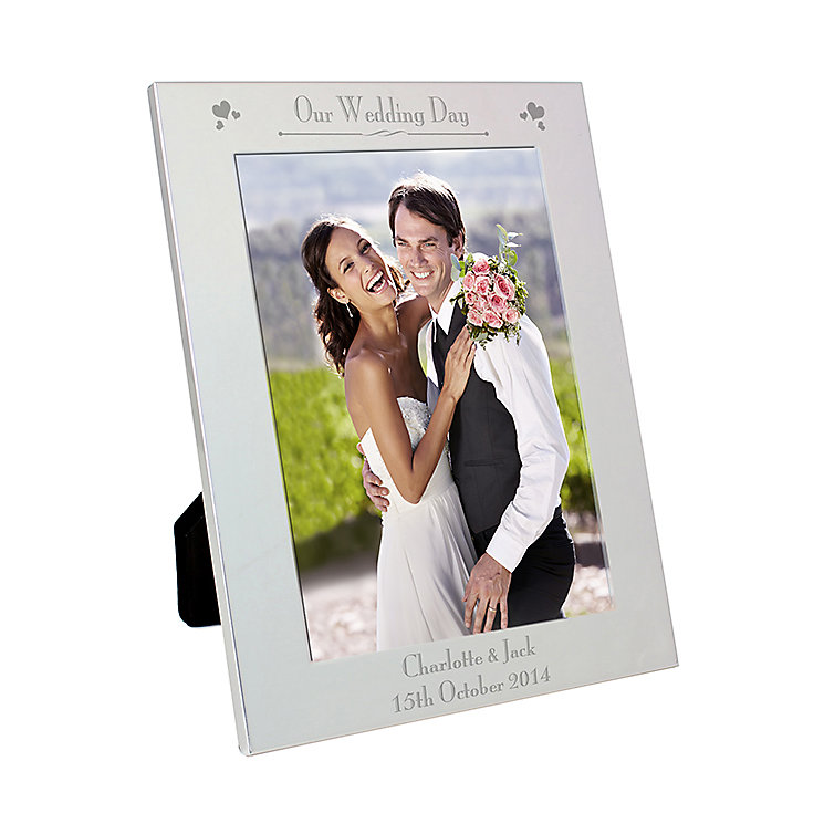 Silver 5x7 Decorative Our Wedding Day Frame - Product number 2393824