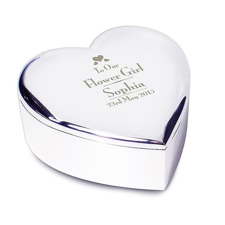 Decorative Wedding Flower Girl Heart Trinket - Product number 2393891