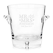 Glass Mr & Mrs Ice Bucket - Product number 2393921
