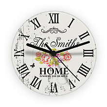 Shabby Chic Floral Glass Clock - Product number 2394197