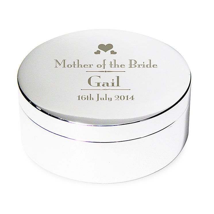 Decorative Wedding Mother of the Bride Round Trinket Box - Product number 2394375