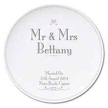 Decorative Wedding Mr & Mrs Plate - Product number 2394413
