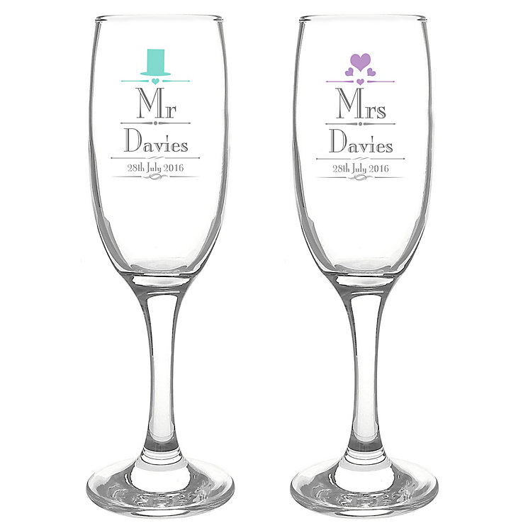 Decorative Wedding Mr & Mrs Flutes - Product number 2394464