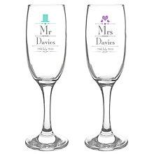 Decorative Wedding Mr & Mrs Flutes - Product number 2394464