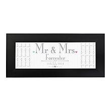 Decorative Wedding Mr & Mrs Black Name Frame - Product number 2394553