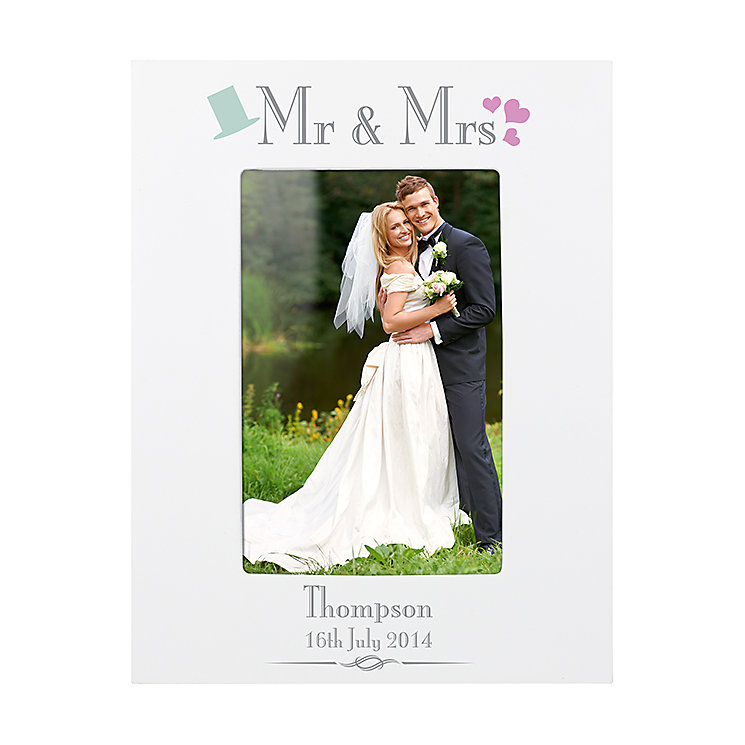 Decorative Wedding Mr & Mrs White 6x4 Frame - Product number 2394669