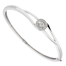 Diamonds in Rhythm sterling silver diamond halo bangle - Product number 2396637