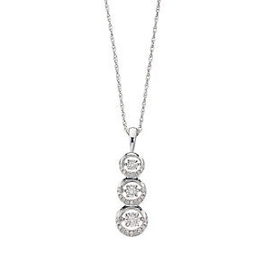 Diamonds in Rhythm silver 0.20ct trilogy pendant - Product number 2396661