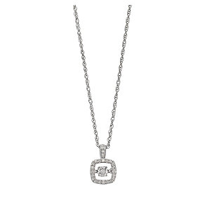 Diamonds in Rhythm silver diamond halo cushion pendant - Product number 2396688