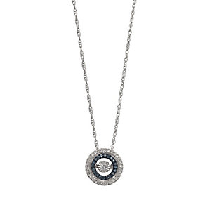 Diamonds in Rhythm treated blue diamond double halo pendant - Product number 2396726