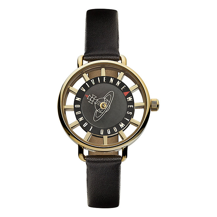 Vivienne Westwood Tate black leather strap watch - Product number 2397315